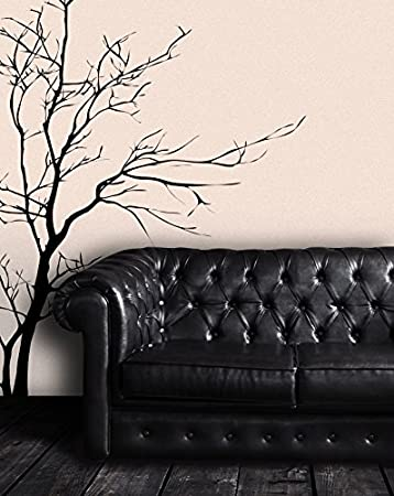 Amazoncom Stickerbrand Nature Vinyl Wall Art Bare Tree Branch - How to make vinyl wall decals stick better