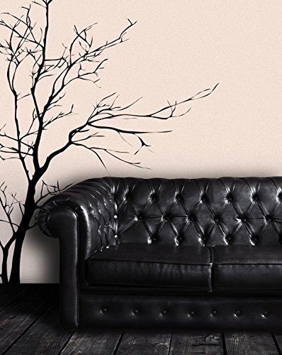 Stickerbrand Nature Vinyl Wall Art Bare Tree Branch Wall Decal Sticker    Black, 60u0026quot;