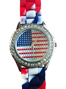 Geneva American Flag Silicone Watch - Special Design - Limited Edition