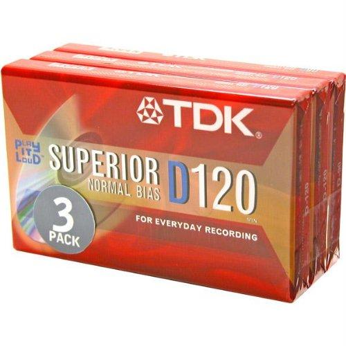 TDK D120S3 D120 Audio Cassette Tape by TDK