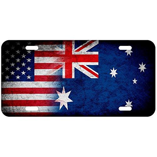 Australia Flag License Plate - ExpressItBest High Grade Aluminum License Plate - Flag of Australia (Australian) - Rustic/USA