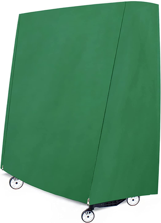 ZCBHSD Funda para Mesa de Ping Pong Exterior/Interior,Tela Oxford 600D Resistente,Impermeable, Resistente al Viento, Anti-UV(152x71x160cm)-Verde