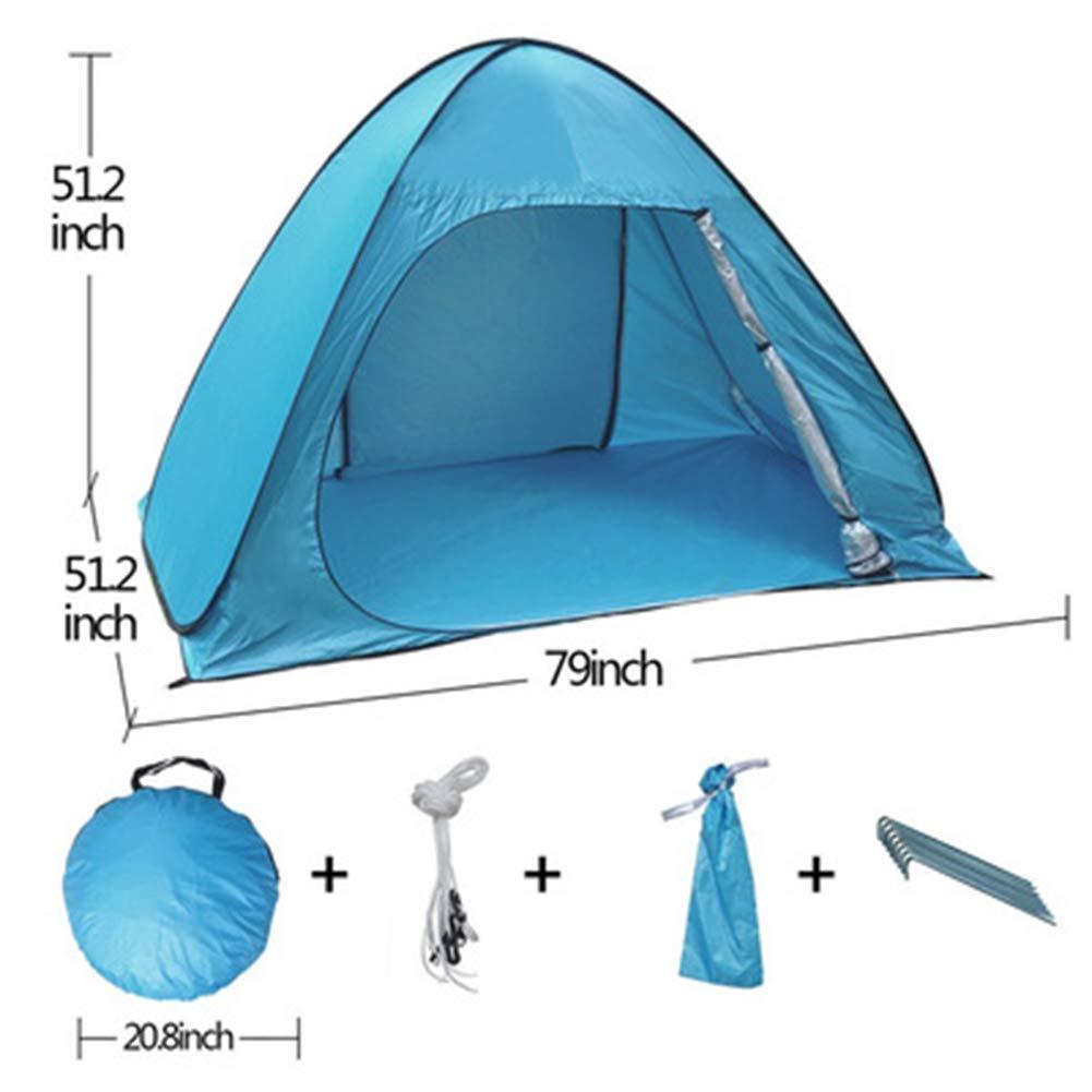 LZNK Enfants Double Camping en Plein air Anti UV Tente 2 Personnes Camping Tente de Voyage en Plein air Coupe-Vent  -