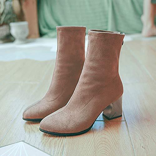 Pelle mocassini sneakers scarpe stivali stivaletto Scamosciata Cachi Donna Alto infradito Unita Donna scarpe Tacco In Scarpe sandali Tinta stivaletti Iw8n6nRq1
