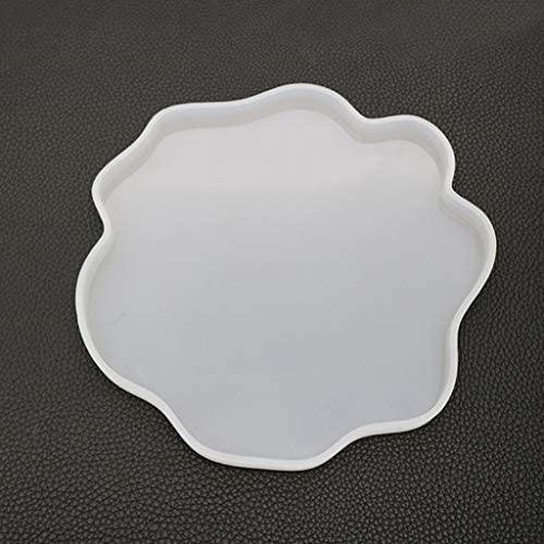 Sitonelectic unregelm/ä/ßige Untersetzer Form Tassenmatte DIY Craft Spiegel UV Harz Kristall Epoxy Formen M durchsichtig
