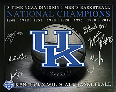 Kentucky Wildcats 2012 Champs Autographed / Signed 16x20 Photo - Certified Authentic