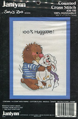 Janlynn Suzy's Zoo 100% Huggable Counted Cross Stitch Kit