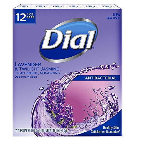(Dial Lavender And Twilight Jasmine Bar Soap, 12 Count)