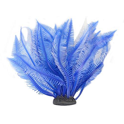 Saim Jardin Aquarium Plastic Grass Plants Ornament for Fish Tank (Blue) (Aquarium Plant Jardin)