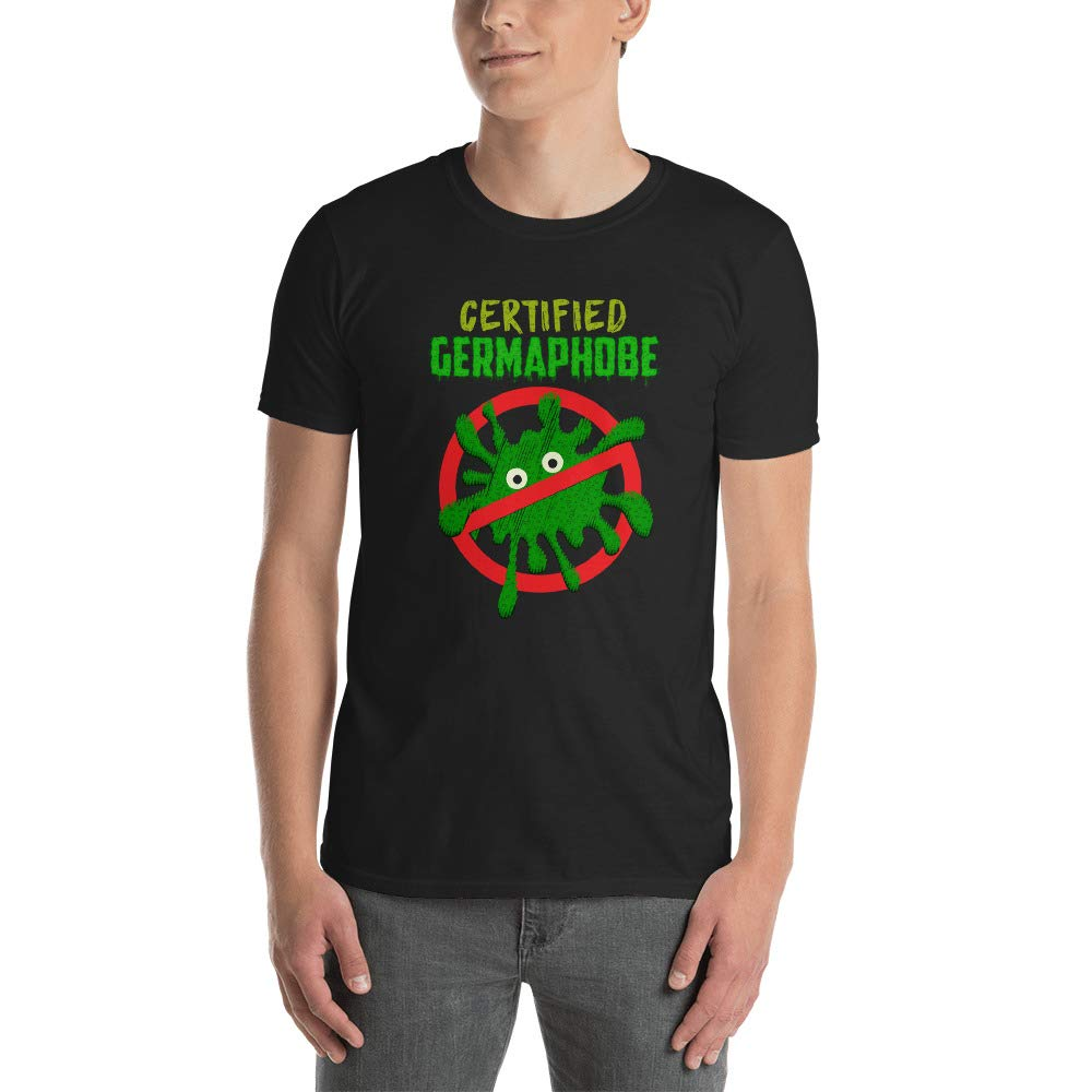 Alpha5StarDeals Certified Germaphobe Short-Sleeve Unisex T-Shirt