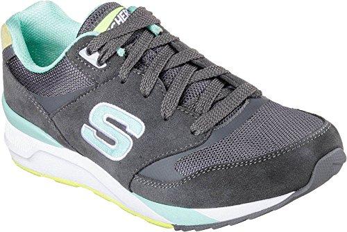 Skechers Originals Og 90 Rad Runners, Zapatillas de Deporte para Mujer Charcoal/Aqua