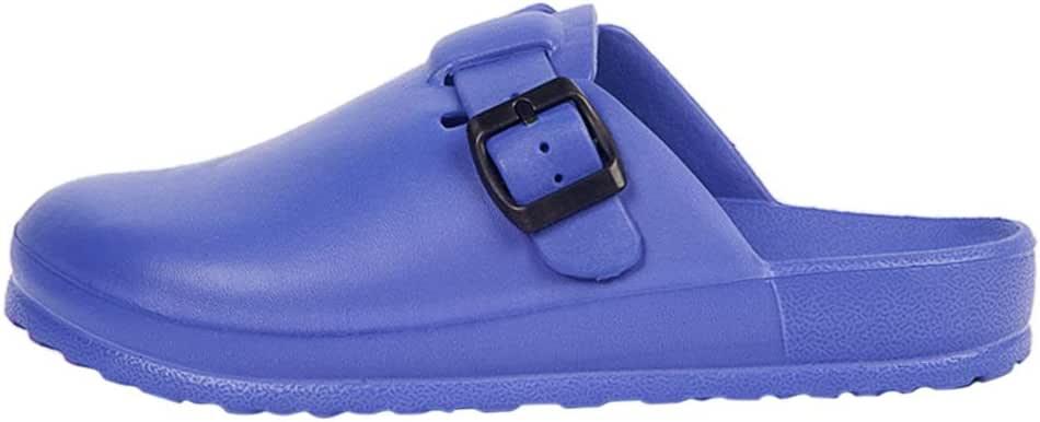 Bverionant Zueco de Trabajar Antideslizante y Blando Zapatillas de Jardín Lavable Impermeable para Unisex Adultos Azul Oscuro EU 36: Amazon.es: Zapatos y complementos