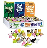 Raymond Geddes Jungle Sea & Farm Life Collectible Erasers, 288 Pack (68510)