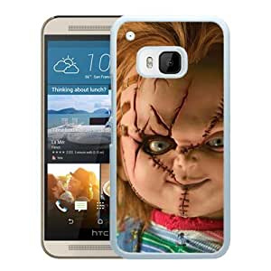 New Senior Custom Design With Best Quality Scary Chucky Doll White HTC ONE M9 Cover Case