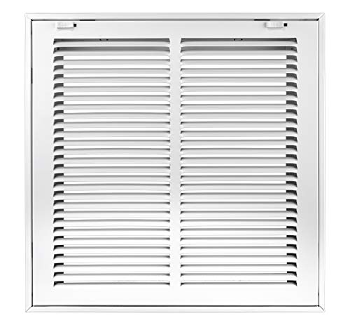 Accord ABRFWH1212 Return Filter Grille with 1/2-Inch Fin Louvered, 12-Inch x 12-Inch(Duct Opening Measurements), White