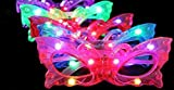 BEST PARTY FAVORS OF 2016! 12 Piece Adorable Butterfly Light Up Flashing Glasses For Children (4 Colors: Red, Green, Blue, & Pink)- With Push On/Off Button for All Occasions