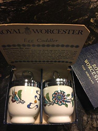 Royal Worcester Egg Coddler Pair - Palmyra Pattern - Blue...