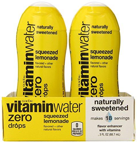 Vitaminwater нулевые капли, запивая лимонадом 3 жидких унций, 6 Граф