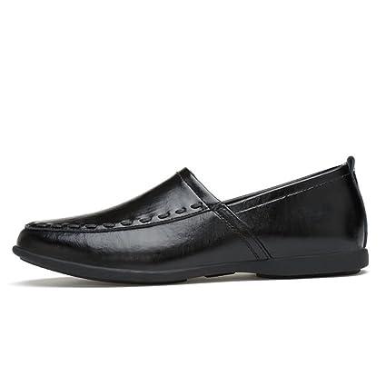 Yajie-shoes, Hombres Casual Drive Mocasines Zapatos de leguminosas Suave Cuero Genuino Transpirable Low