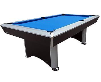Playcraft Sprint Blue Cloth Pool Table, Black/Grey