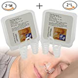 Stop Snoring, Anti Snoring Solution, Nose Vents Breathing Aids, The Original Nose Vents To Ease Breathing And Snoring, Perfect Fit Snoring Remedy For Men Or Women, A Set of Four (2M+2L)