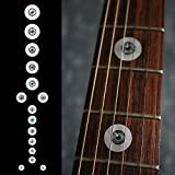 Fretboard Markers Inlay Sticker Decals for Guitar and Bass - Eye Ball & Spade SET