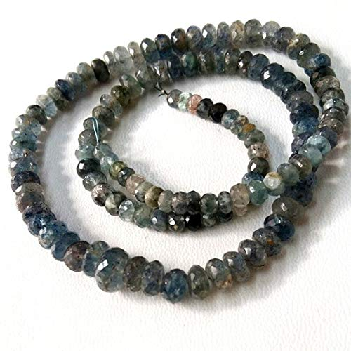 Brand New Full 18 inch Strand Moss Aquamarine Faceted rondelles,Moss Aqua,Size 4-8 mm Approx, Very Nice Quality by KALISA GEMS