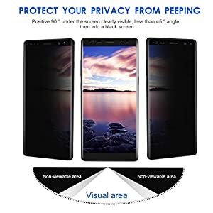 Samsung Galaxy Note 8 Screen Protector Toptrade Note 8 Premium Privacy 3D Curved Anti-Spy Tempered Glass Case Friendly Screen Film for Samsung Galaxy Note 8 (transparent)