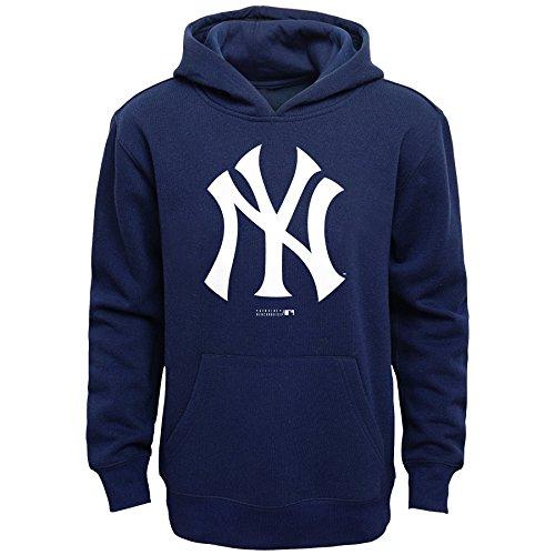 MLB New York Yankees Boys Primary Logo Fleece Hoodie, Athletic Navy, Size 14/16
