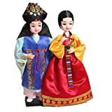 Korean Beauty Hanbok Doll Korean Traditional Bride Groom Lovers Couples Doll Figurines Basic Wedding Gift Marriage Couple Dolls High Quality