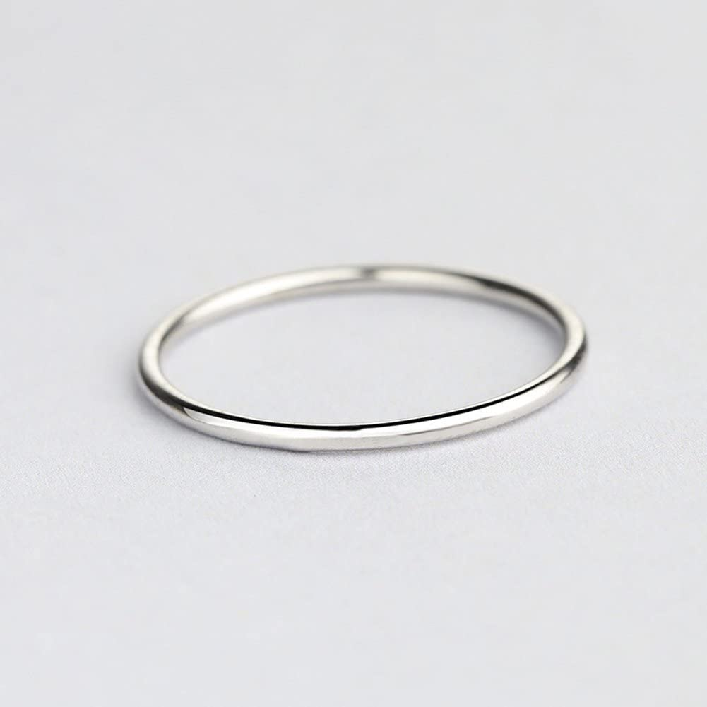Paialco Sterling Silver Dome Band Comfort Fit Midi Ring 2mm Skinny Size