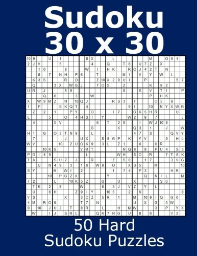 Download Sudoku 30 x 30 50 Hard Sudoku Puzzles pdf
