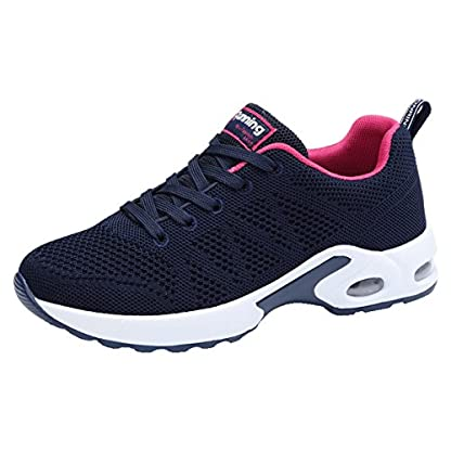 JARLIF Women's Breathable Fashion Walking Sneakers Lightweight Athletic Tennis Running Shoes US5.5-10
