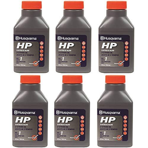 (Husqvarna 2.6 oz HP Synthetic Blend 2-Cycle Engine Oil 6-Pack 593152601)