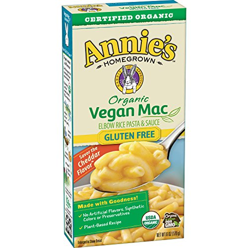 (Annie's Organic Vegan Gluten-Free Elbows & Creamy Sauce Macaroni & Cheese, 12 Boxes, 6oz (Pack of 12) - Packaging May Vary )