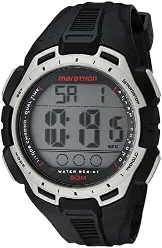 Marathon by Timex Men's TW5K94600 Digital Full-Size Black/Silver-Tone Resin Strap Watch