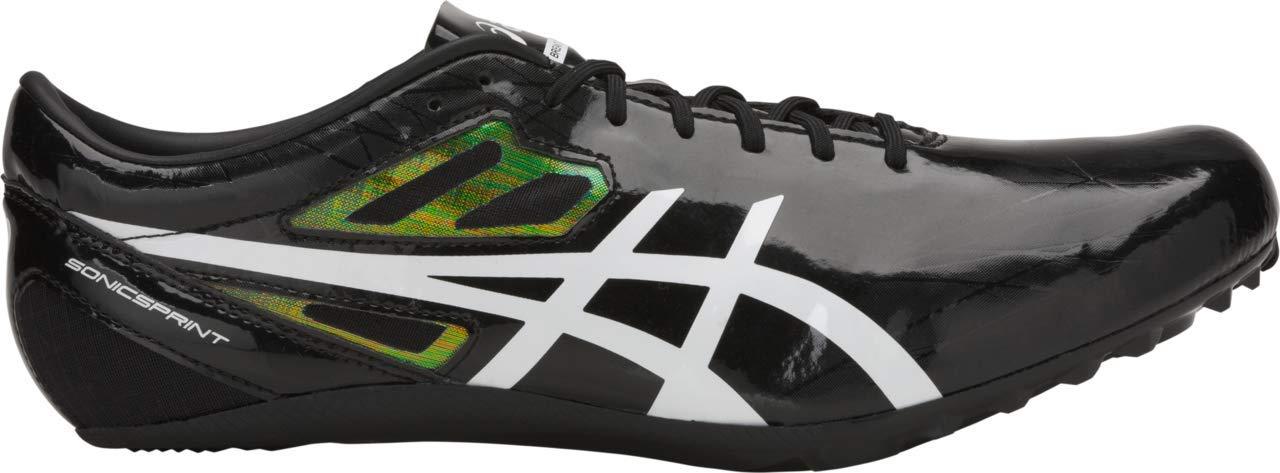 ASICS Sonicsprint Men's Track & Field Shoe, Black/White, 6 M US by ASICS (Image #1)