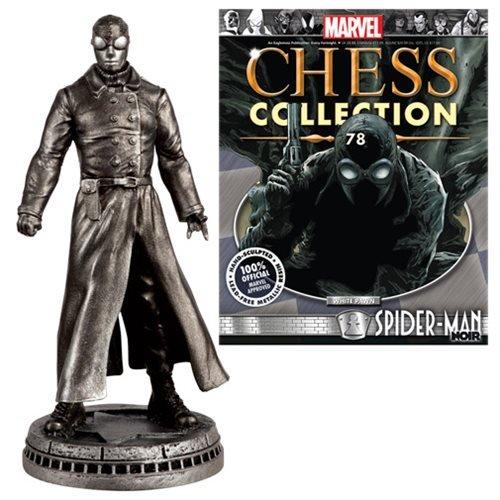Marvel Spider-Man Noir White Pawn Chess Piece with Collector Magazine
