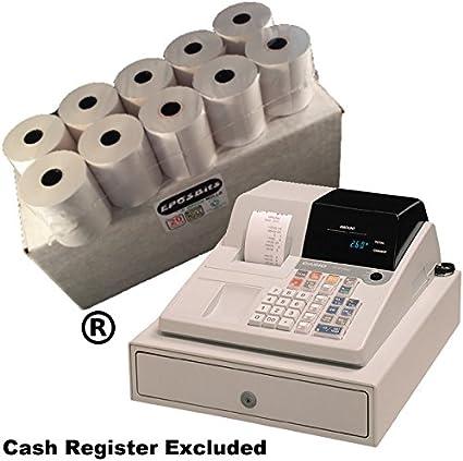 eposbits® marca 20 rollos – 1 caja para Casio pcr260 PCR 260 pcr-260 caja registradora: Amazon.es: Oficina y papelería