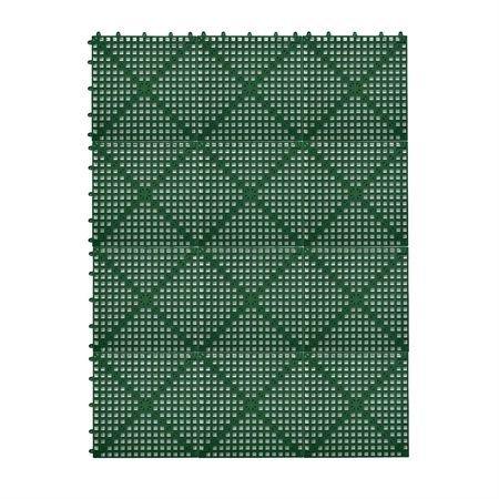Dri-Dek 3'x4' Interlocking Sheet (Hunter Green) - Patio, Lanai & Pool Deck Flooring