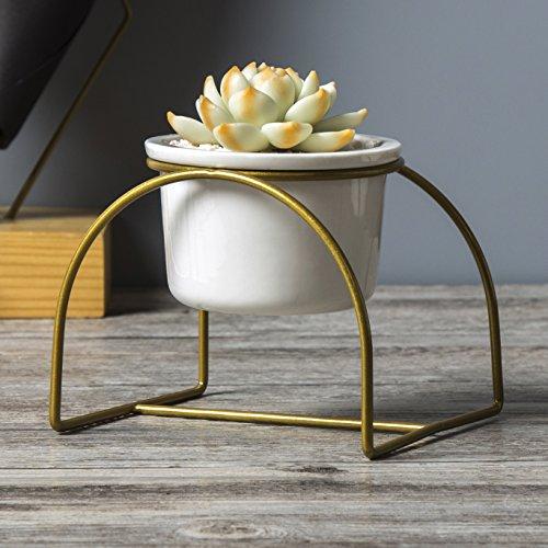 1set planter pot of Arch design gold Desktop Planter Vase & Geometric Container planter pot - Great For Succulent Plants, Air Plant, Mini Cactus, Faux Plants,nice home decoration Design Vase