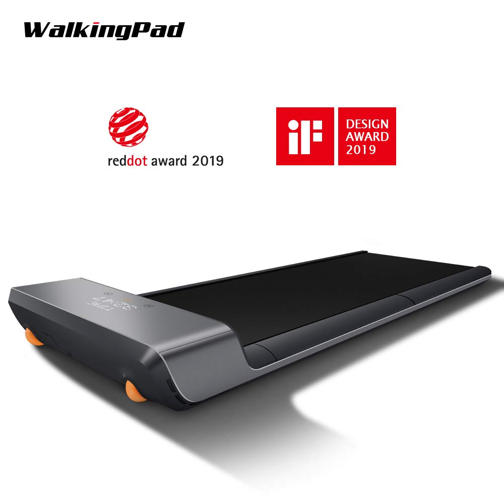 WALKINGPAD A1 Walking Treadmill KingSmith Jogging Fitness Equipment Experience, Free Installation, Noise Free Comfortable Gym, Footstep Induction Speed Control, Folding Design, Under Desk 0-6KM/h by WALKINGPAD