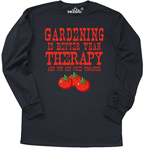 inktastic - Gardening Therapy Tomatoes Long Sleeve T-Shirt XXX-Large Black 2ef04