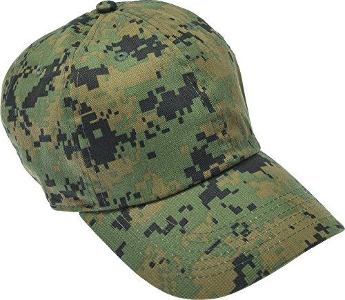 Hand By Hand Aprileo Solid Cotton Cap Washed Hat Polo Camo Baseball Ball Cap [36 Digital Camo](One - Ball Camo Cap Digital