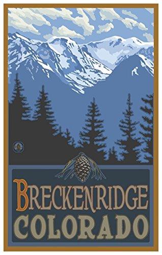 Breckenridge Colorado Snowy Mountain Ridges Travel Art Print Poster by Paul A. Lanquist (12