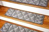 Dean Premium New Zealand Wool Carpet Stair Treads - Shadowscape Alpine (Set of 15) 30'' x 9''