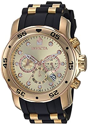 Invicta Men's 17884 Pro Diver 18k Gold Ion-Plated Stainless Steel Chronograph Watch from Invicta
