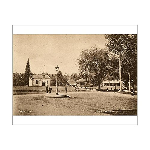 10x8 Print of Town square, Salatiga, Central Java, Indonesia (14412892) by Mary Evans Prints Online