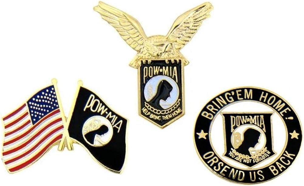 Pins POW MIA - Pack de 3 pines para gorra: Amazon.es: Ropa y accesorios