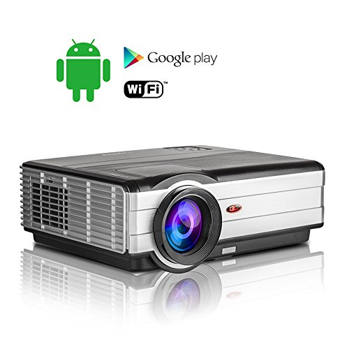 3500 Lumen Wireless Android LCD Projector Home Cinema 128...